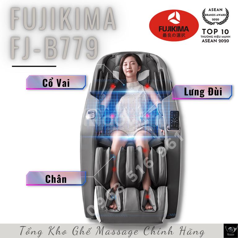 Fujikima B779 giá rẻ bất ngờ, xả hàng đồng loại các mẫu ghế massage 4D