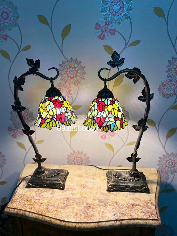 Giao lưu đôi đèn hoa leo bàn đa sắc