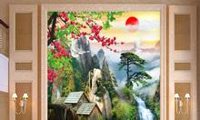 Gạch tranh phong cảnh thiên nhiên ốp tường HP4679