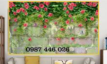 Tranh gạch men giàn hoa ốp tường 3d đẹp HP146