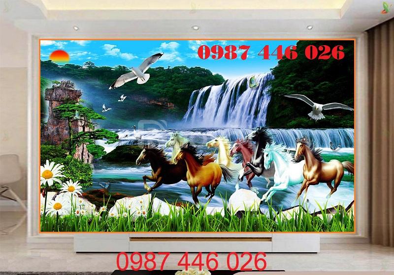 Tranh ngựa, gạch tranh ốp tường HP419