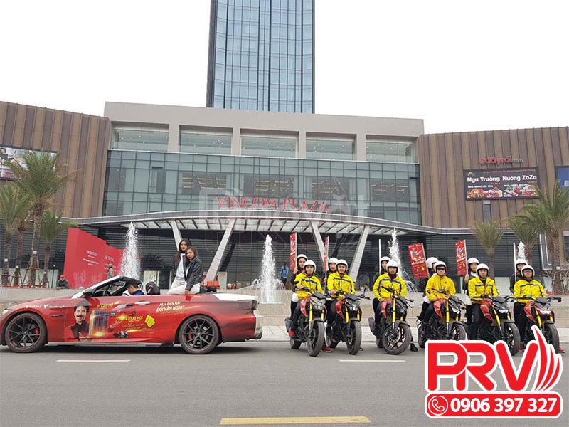 Cho thuê xe đạp, xe máy, ô tô và xe tải chạy roadshow quảng cáo