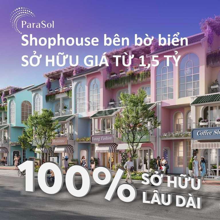 Bán nhanh shophouse bên biển Bãi Dài giá rẻ