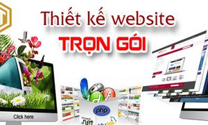 Thiết kế web trọn gói, giao diện đẹp, đầy đủ tính năng