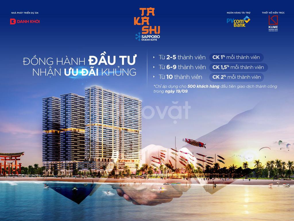 Dự án Takashi, Quy Nhơn, căn hộ mặt tiền biển