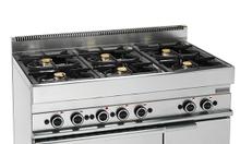 Bếp âu 6 họng có lò nướng dùng gas
