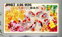 Gạch tranh cá chép HP0013