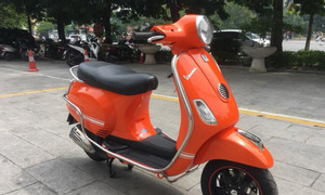 Vespa Lx 125ie màu cam biển Hà Nội