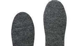 Lót giày từ vải felt, vải nỉ xăm kim