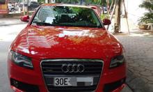Audi A4 cũ 2008 màu đỏ rất mới, trang nhã thanh lịch