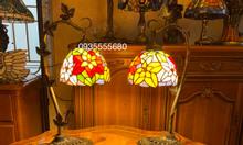 Giao lưu đôi đèn tiffany hoạ tiết hoa hồng kiểu mới