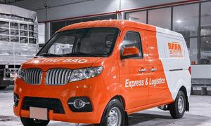 Xe tải dongben SRM van 2 chỗ, xe chở thư báo, giảm giá cuối năm