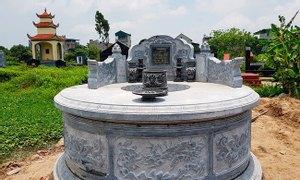 Thiết kế, thi công mộ tròn bằng đá, kích thước mộ tròn theo phong thủy