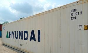Container lạnh 40 feet chứa hàng thực phẩm, hàng có sẵn tại bãi