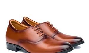 SALE 10% giày da nam buộc dây cao cấp, độn cao 6cm