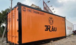Container lạnh 20 feet sơn mới đặt theo yêu cầu