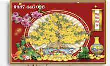 Gạch tranh mai vàng HP590