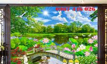Gạch tranh phong cảnh thiên nhiên 3d HP018