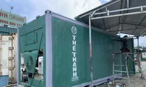Bán container lạnh 20feet sơn mới màu xanh