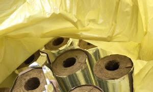 Ống len đá Rockwool cách nhiệt, bọc đường ống nóng