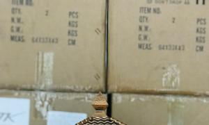Đèn trụ cổng NLMT MK-1601 chữ Phúc