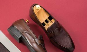 Giày da nam màu nâu mã GNTA10062-N thương hiệu Tâm Anh