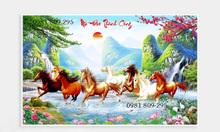 Tranh gạch 3d ngựa, 8 ngựa phong thủy