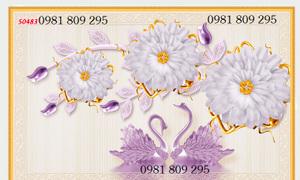 Tranh gạch, gạch 3d hoa ngọc GF56