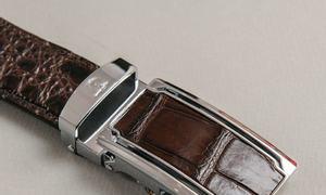 Thắt lưng da nam hông cá sấu DTA1100-07B-H-CF hiệu Tâm Anh