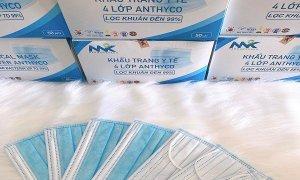 Khẩu trang y tế Anthyco, khẩu trang kháng khuẩn 4 lớp