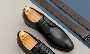 Giày da nam dáng Derby GNTA018-D thương hiệu Tâm Anh