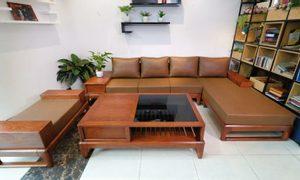 Tổng hợp mẫu Sofa gỗ tự nhiên giá thành tại xưởng free ship Hà Nội