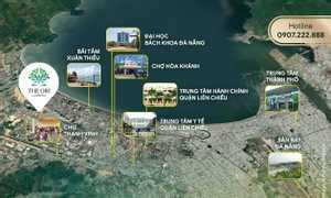 Căn hộ view biển Đà Nẵng, nội thất hoàn thiện, đóng 30% nhận nhà